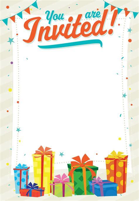 Printable Party Invitation Decoration Templates kids