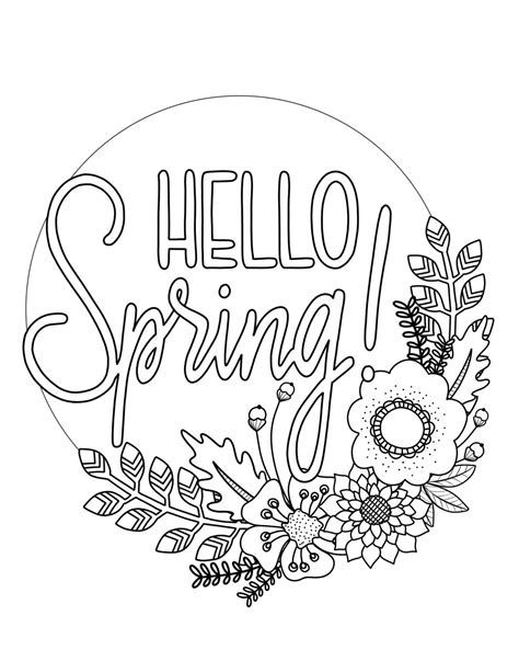 Printable Spring Coloring Pages Parents