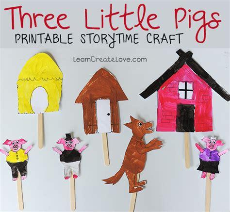 Printable Storytime Craft Three Little Pigs LearnCreateLove