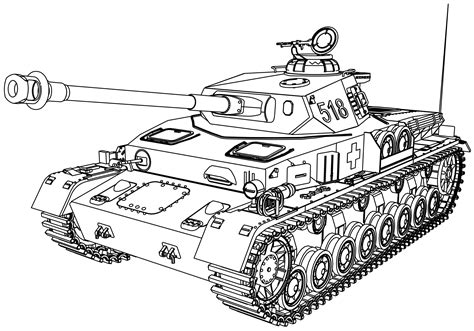 Printable Tank Coloring Pages Design 15189