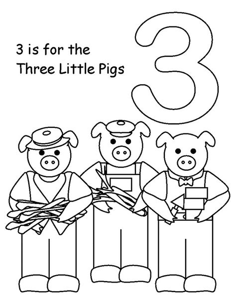 Printable Three Little Pigs Activities and Coloring Pages