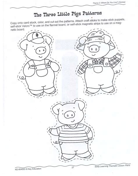 Printable Three Little Pigs House Templates Fun with Mama