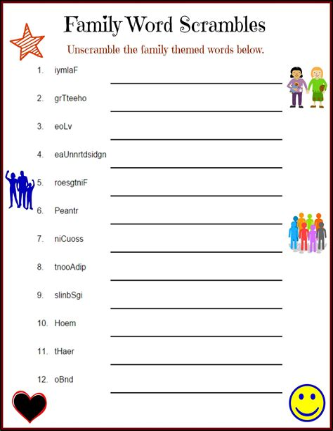 Printable Word Scramble Puzzles PrintActivities