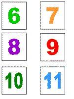 Printable number stamps DLTK s Educational Activities