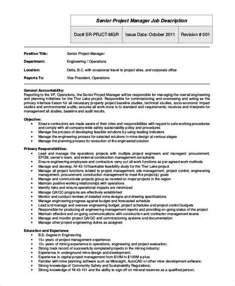 Project Manager Job Description Job Descriptions