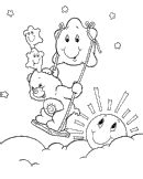Pudgy Bunny s Care Bears Coloring Pages