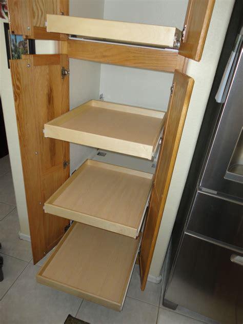 Pull out shelves that slide custom kitchen sliding