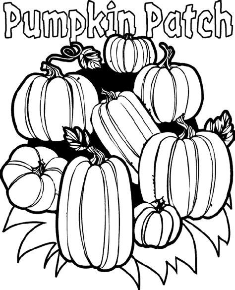 Pumpkin Patch Coloring Page crayola