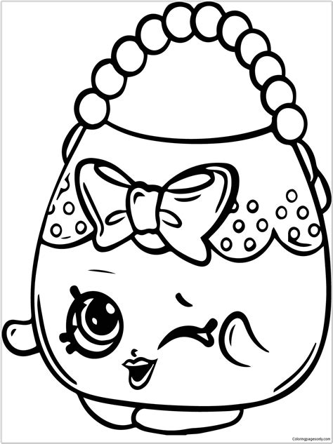 Purse Coloring Pages Free and Printable