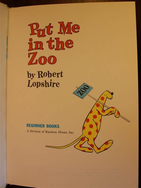 Put Me in the Zoo by Robert Lopshire Hardcover Barnes