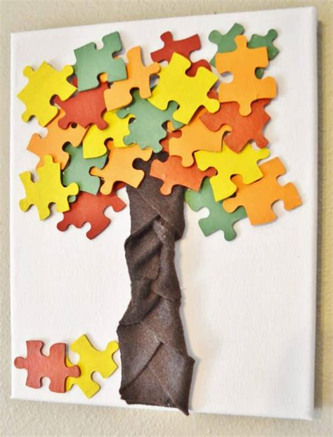 Puzzle Piece Crafts for Kids Arts and Crafts Projects