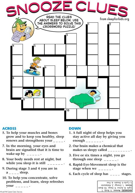 Puzzles and Games Sleep for Kids Teaching Kids the