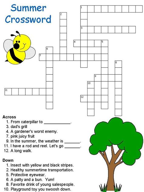 Puzzles for Kids Puzzle Choice Crosswords online and