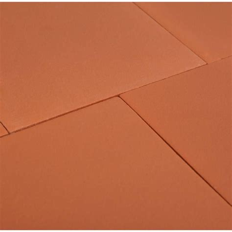 Quarry Tile Red Blaze 6 in x 6 in Ceramic Floor and Wall