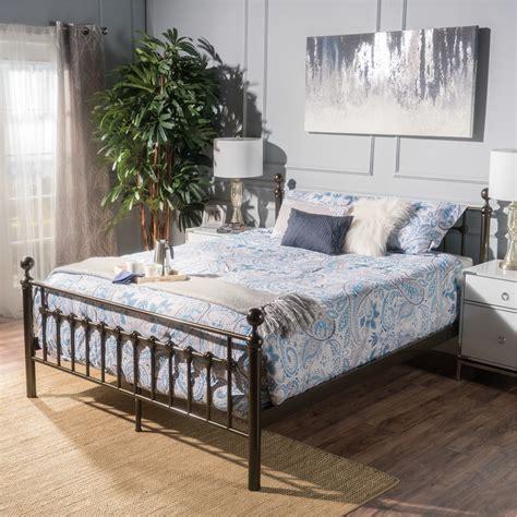 Queen Wood Metal Beds You ll Love Wayfair