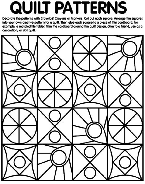 Quilt Patterns Coloring Page crayola