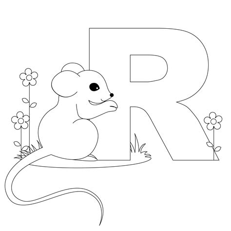 R Coloring Page