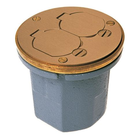 RACO Round cast iron floor box for concrete tile or wood