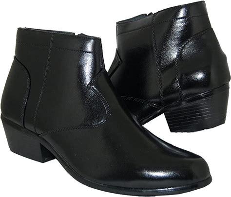 RETRO STYLE 2 Inch Cuban Heel Men Boots amazon