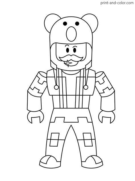 ROBLOX COLORING Pages Free Download Printable