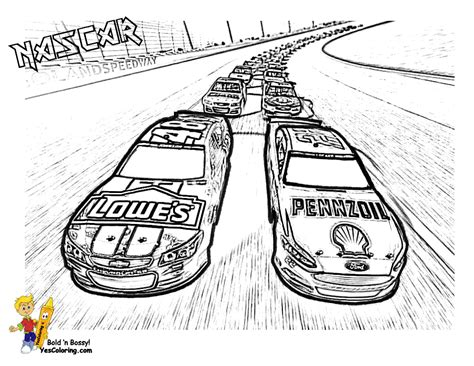 Racing coloring pages Free printable sport coloring