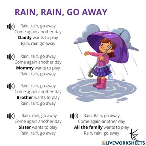Rain Rain Go Away Nursery Rhyme With Lyrics Cartoon