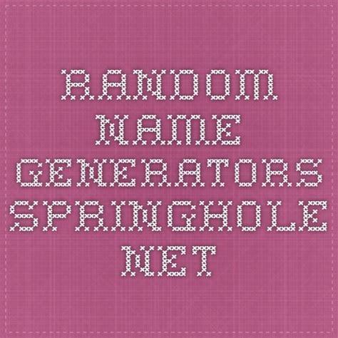 Random First Name Generator Springhole