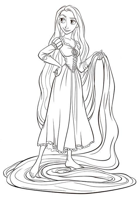 Rapunzel Coloring Page Free Rapunzel Online Colo