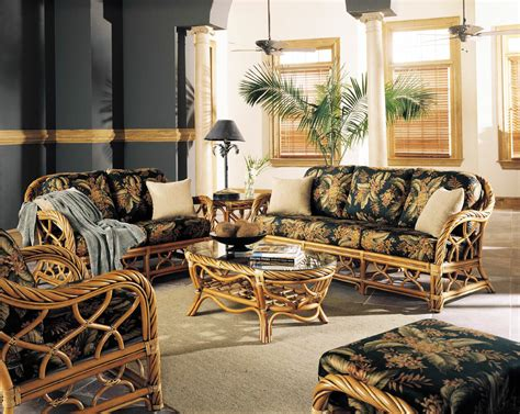 Rattan and Wicker Living Room Furniture Sets Living Room
