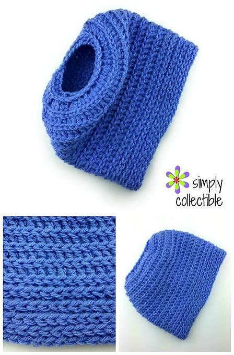 Ravelry Edgy Messy Bun Hat pattern by Celina Lane
