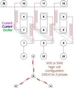 generator wiring diagram 3 phase images phase panel wiring re wiring a three phase generator anoldman