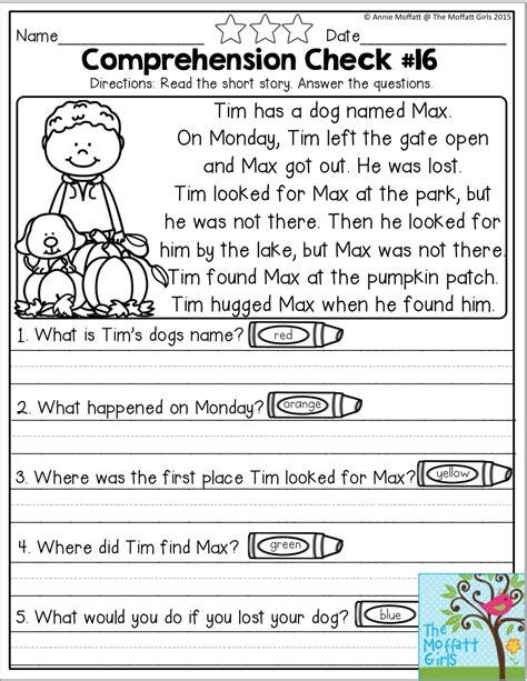 Reading Comprehension Worksheets 2nd Grade