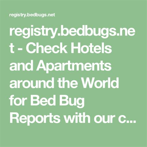 Recent Bed Bug Reports from Around the World BEDBUGS NET