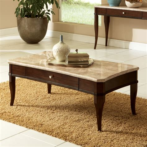 Rectangle Marble Granite Top Coffee Tables You ll Love