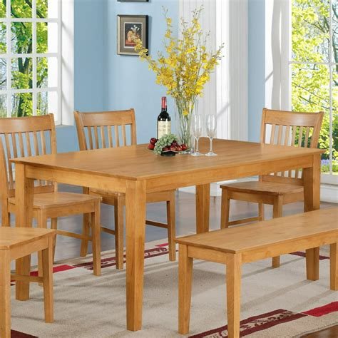 Rectangular Dining Table Solid Wood Furniture