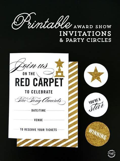 Red Carpet Party Printables Elegance Enchantment