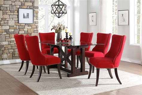 Red Dining Room Tables Houzz