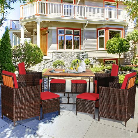 Red Outdoor Dining Sets Walmart