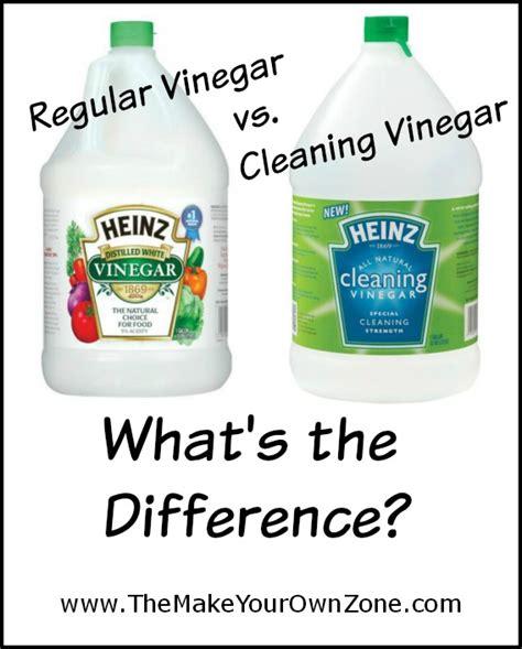 Regular Vinegar vs Cleaning Vinegar
