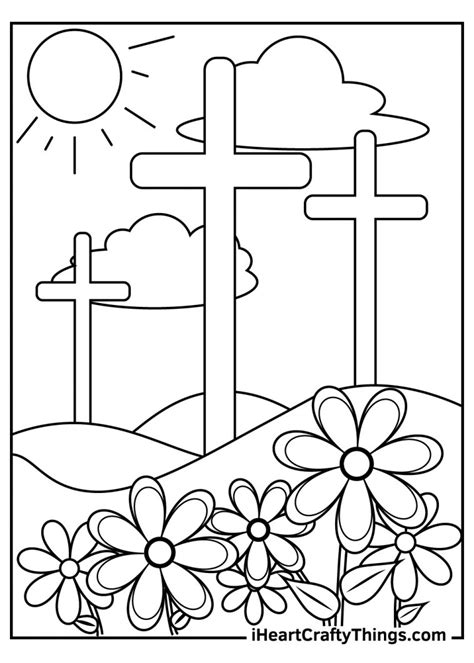 Religious Christian Easter Coloring Pages Christian