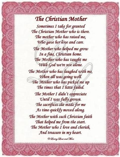 Religious Mother s Day Poems