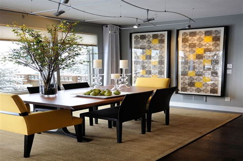 Remarkable Large Dining Room Interior Design Modern Dining