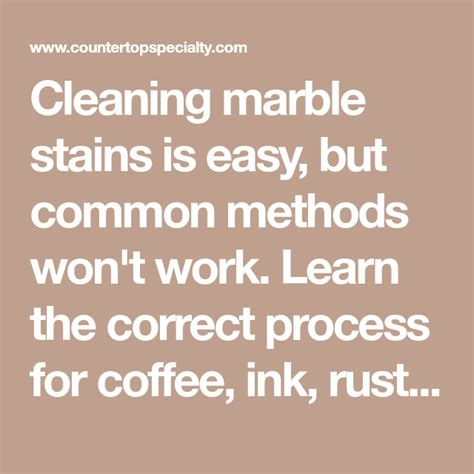 Remove Marble Stains Wine Coffee Rust Ink Stain