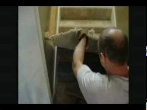 Replacing Nasty Carpeted Steps With Wood Video Series Step 2 Removing The Carpet Plywood Steps