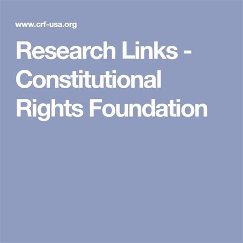 Research Links Constitutional Rights Foundation