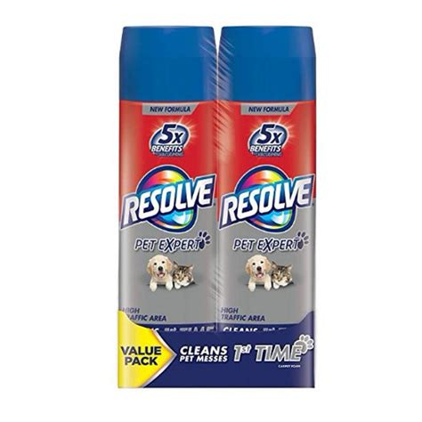 Resolve Dual Pack High Traffic Carpet Foam 44 oz 2 Cans