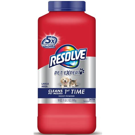 Resolve Pet Carpet Cleaner Powder 18 oz Bottle For Dirt