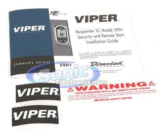 Responder LC Model 5901 Security and Remote Start
