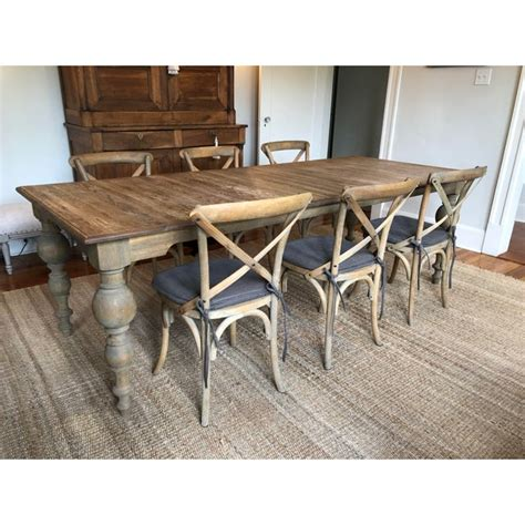 Restoration hardware chairs and dining table furniture