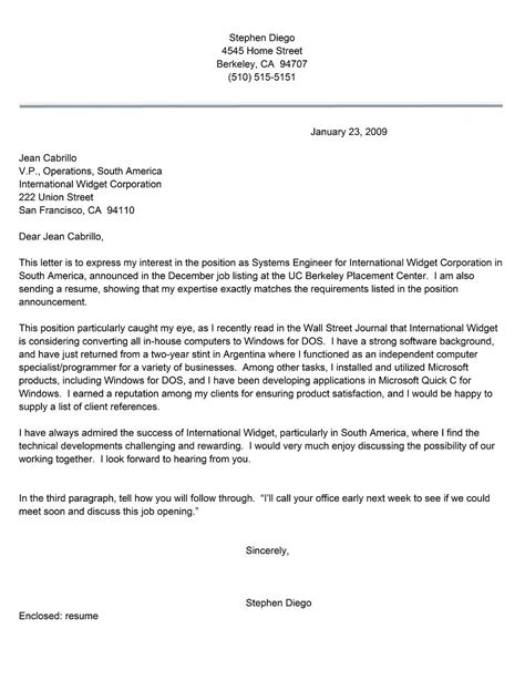 Resume Cover Letter Examples Get Free Sample Cover Letters